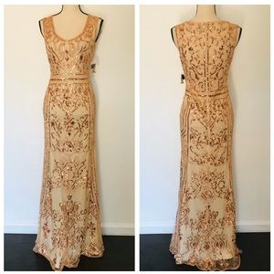 Lulus Dramatic Entrance Rose Gold Sequin Dress